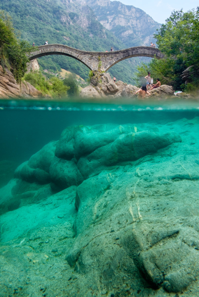 Lavertezzo. Verzasca valley, Ticino region, Switzerland