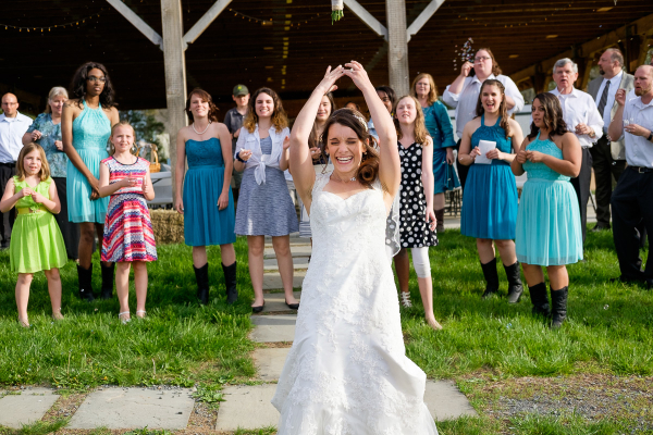 Bouquet toss.