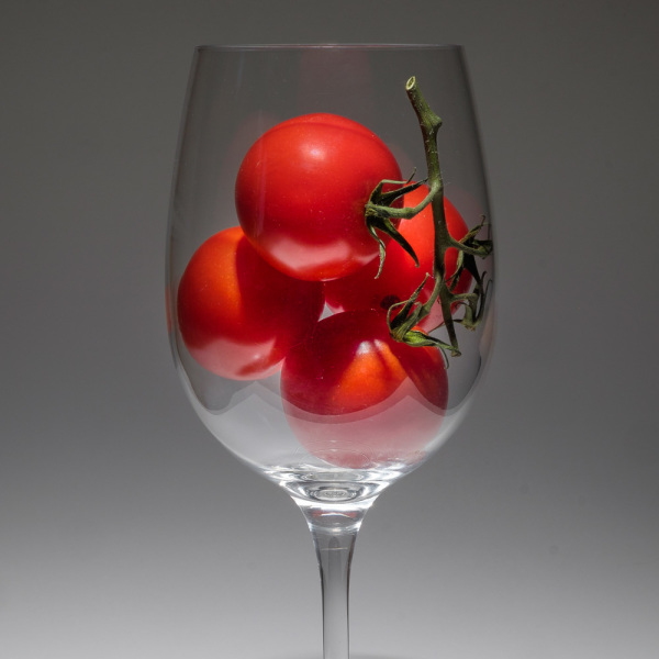 Tomatoes in a wine glass
